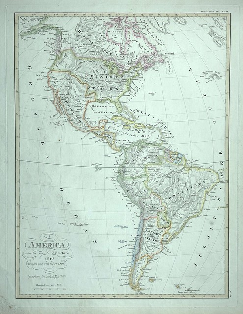 North and South America, 1828