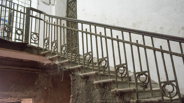 The original handrail of the 112-years old building