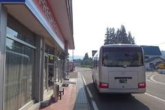只見駅方面行きの代行バスはヒロセ前が乗場になっている