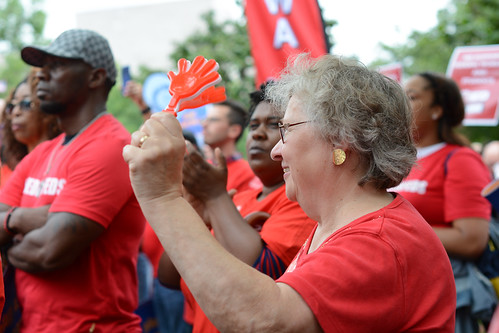 Federal Worker Unions & Allies Protest Trump Executive Orders at #RedforFeds Rally | by AFGE