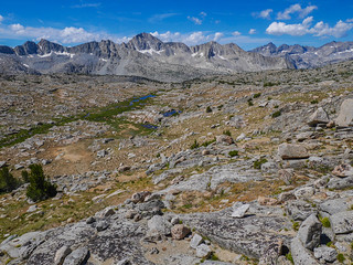 Looking down on Upper Dusy Basin | by snackronym