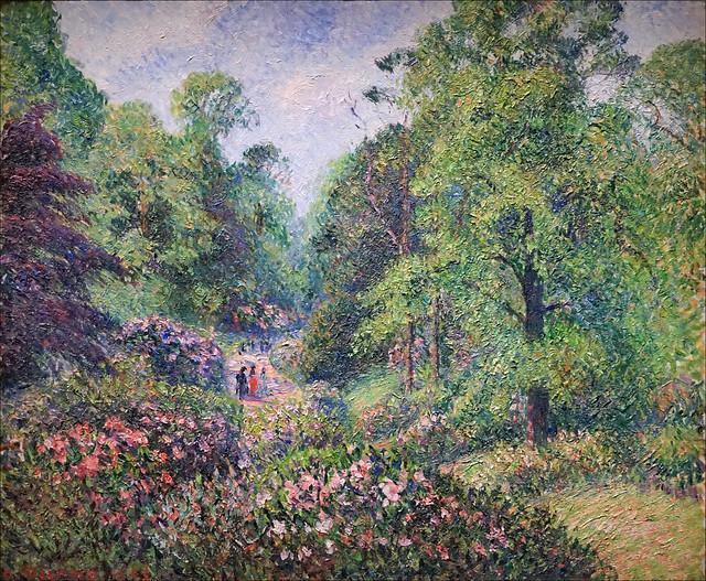 L'allée des rhododendrons de Camille Pissarro (Petit Palais, Paris)