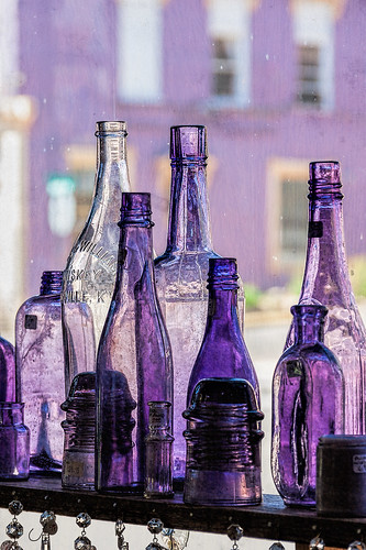 Purple bottles   by docoverachiever