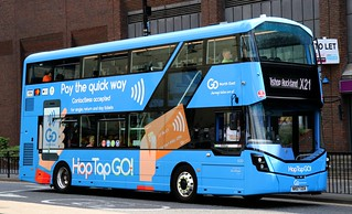 Go North East 6332 NK67GOA leaves Eldon Square in Newcastle with an X21 service to Bishop Auckland. | by Gobbiner