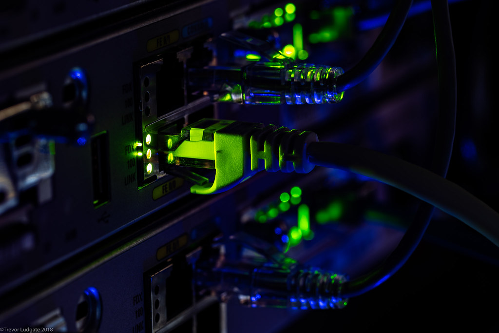 Cisco lab up close | Pictured: Cisco 1841 routers with HWIC-… | Flickr