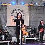 Fri, 27/07/2018 - 11:24am - Amanda Shires and her band, Newport Folk Festival 2018. Photo by Neil Swanson/WFUV
