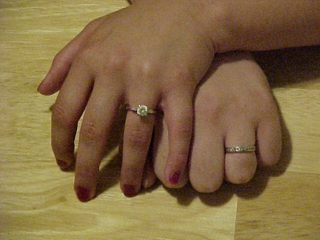 Annie and Kat's engagement rings