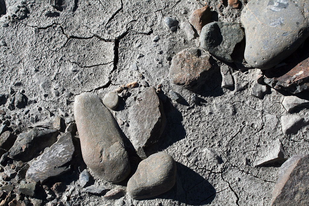 Cracked glacial mud