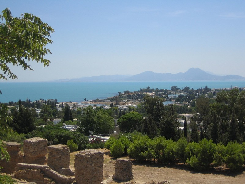 View from the Roman necropolis, Carthage