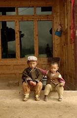 tibetan kids at home   by Jerrold