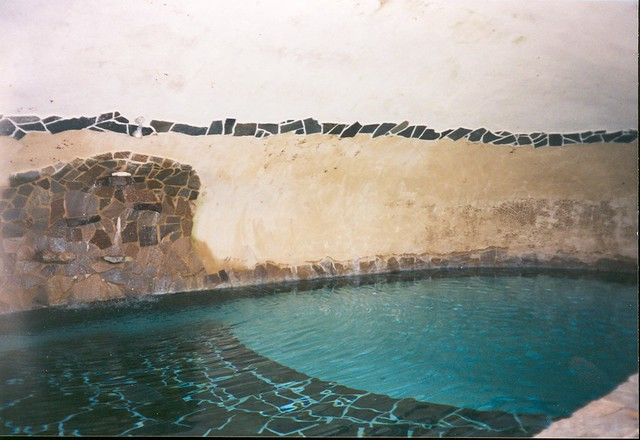 Underground Swimming Pool | The blue part of the swimming po ...
