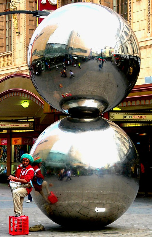 A Busker with Balls