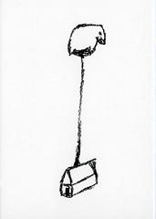 croxcard 44 Thomas Böing (1963)<br /> Birdhouse, 2006<br /> tekening 20x30 cm