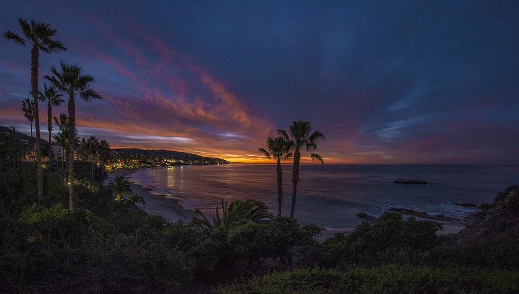 Blue Hour Glow Over Laguna Beach