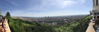 View of Lyon from one of its hills