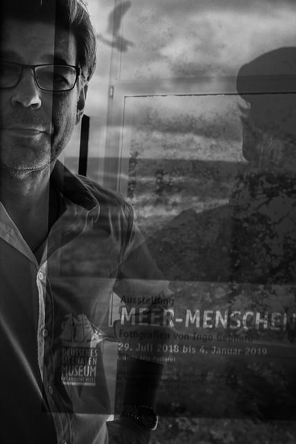 Ingo Gebhard bei der Vernissage seiner Ausstellung