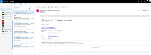 SharePoint Page Approvals - actionable messages | by expiscornovus_img