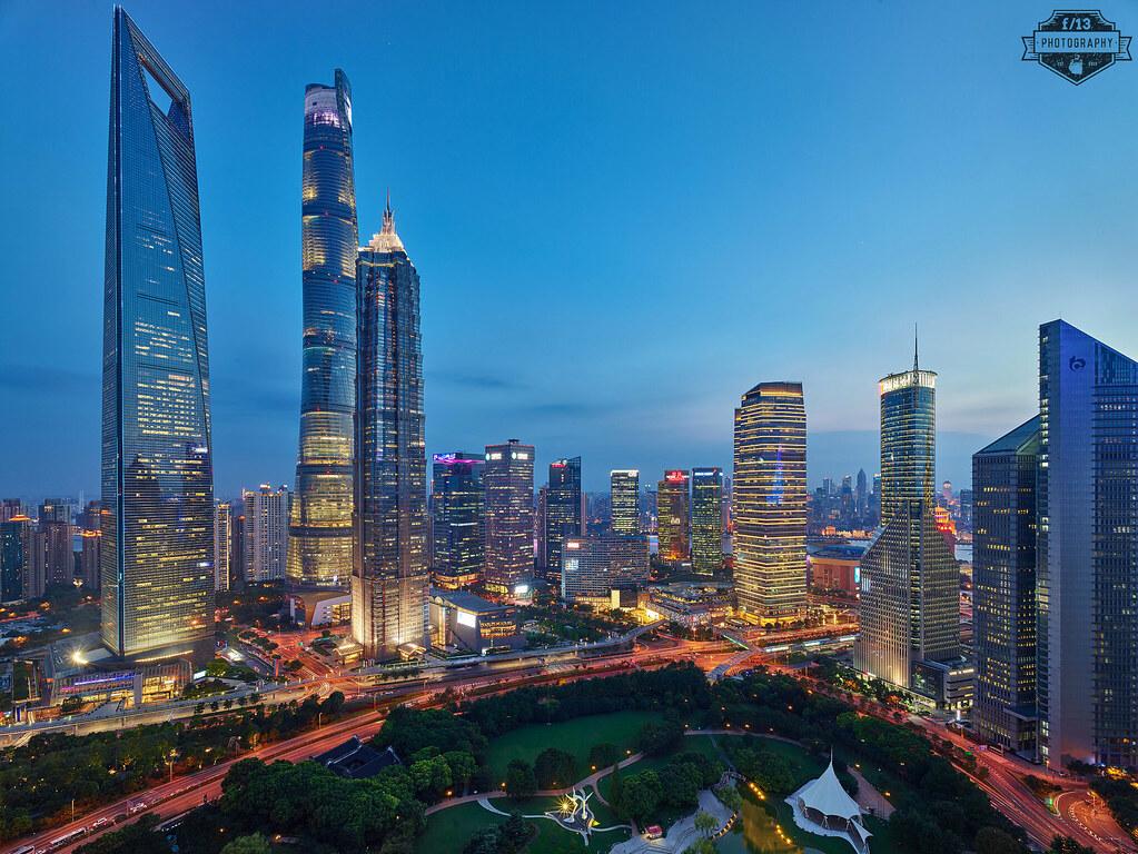 Shanghai Pudong CBD Sunset - 06-Aug-2018