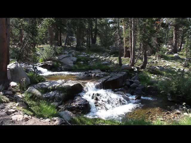 0555 Video of Bubbs Creek as it makes a noisy cascade along the John Muir Trail