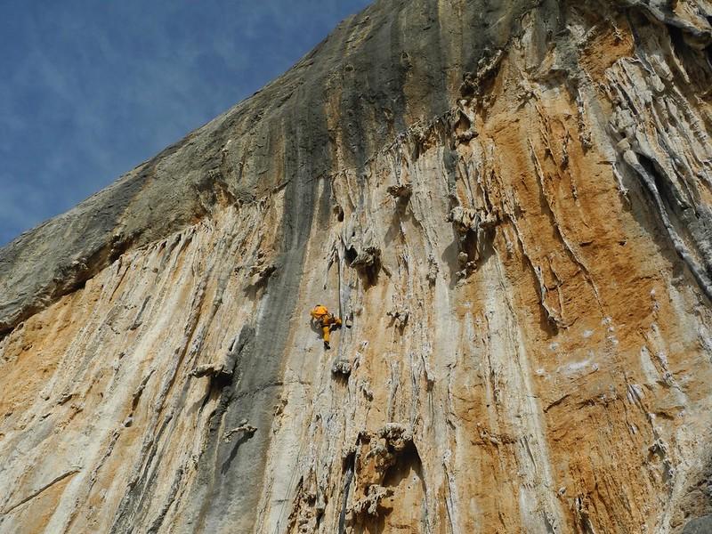 Tufa climbing at its finest