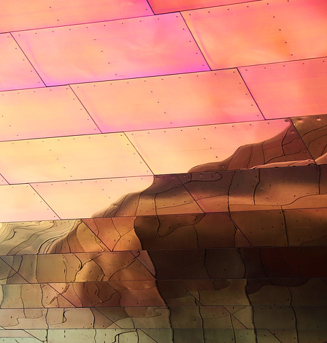 abstract architecture art beauty bright building colorful colourful colors colours contrast dark design detail edge light metal minimalism outdoor outside perspective pattern pretty scene sky study sunlight sunshine street texture tone world museum pop reflection desert lines gehry seattle washington