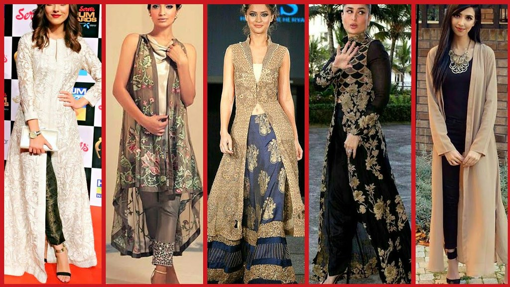 8e2da5ccdc2 ... Gown Style Open Shirt Casual Party wear Dress Designs 2018 - Top  Stylish Open Shirts Video