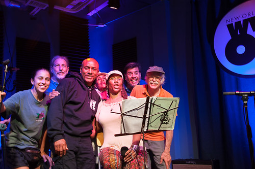 Charmaine Neville and Amasa Miller with Blake McGlaun, Charlie Steiner, Damond Jacob, Dee Lindsey, Jorge Fuentes on July 31, 2018. Photo by Michael E. McAndrew.