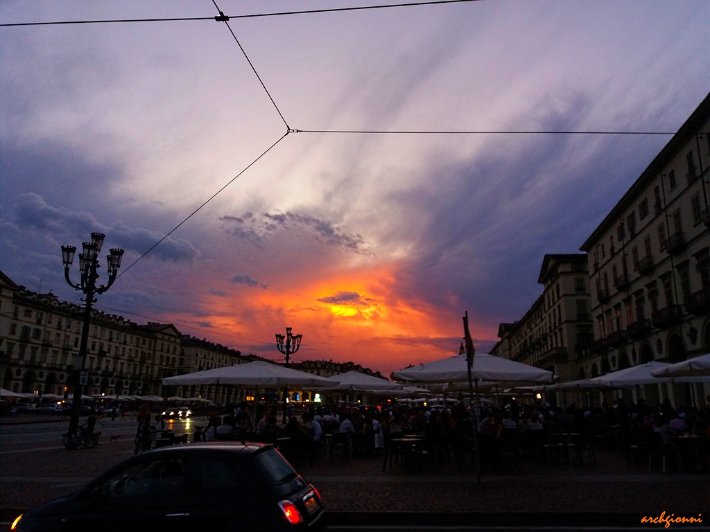 sunset in Turin