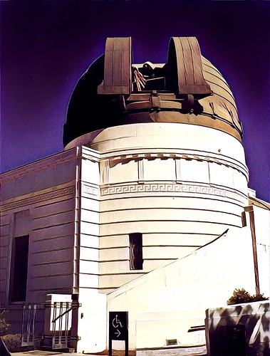 griffith observatory losangeles ca californian astronomy sky dome telescope mount hollywood nrhp register historic hdr process vista pacific ocean tourist 1935 travel attractionsite onasill park architecture tours attraction hills holywoodhills treatment