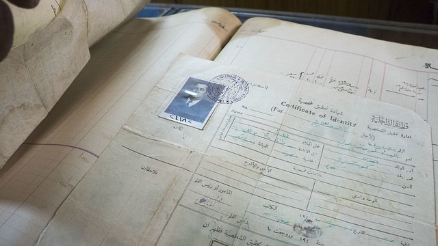 An old Egyptian certificate of identity