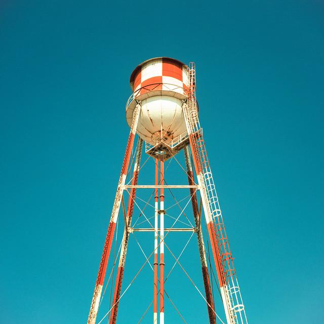 water tower. mojave desert, ca. 2018.