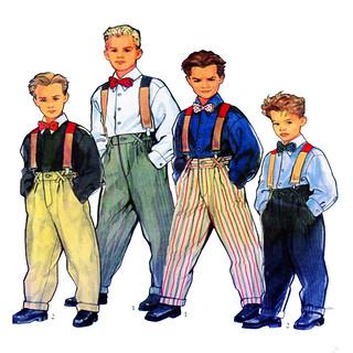 Style 2390 Boy Suspender Pant Pattern