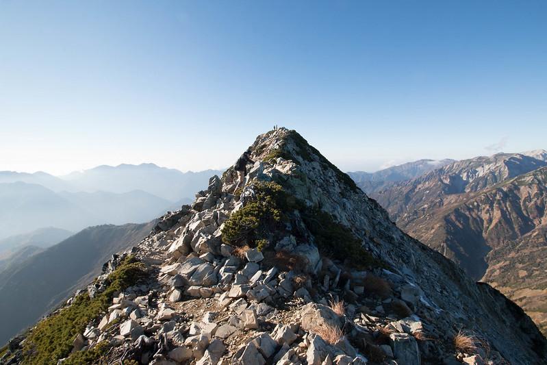 五竜岳を目指す