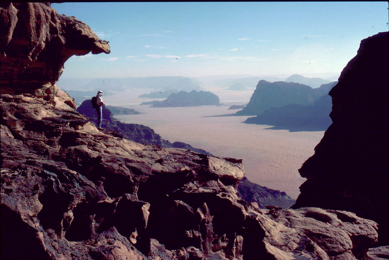 Wadi Rum just north of Aqaba is an adventure climber's dream
