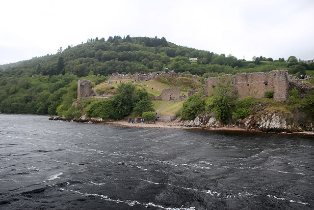 Urquhart Castle viewed from Loch Ness