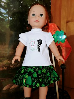 Irish Dance doll T shirt and skirt For 18 inch dolls. www.etsy.com/shop/stitchcottage | by Stitchcottage