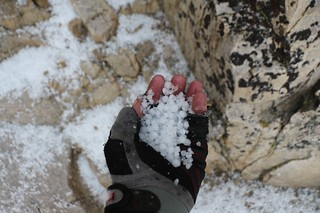 1692 Quarter-inch hailstones in my gloved hand - they were up to two inches deep on the John Muir Trail | by _JFR_