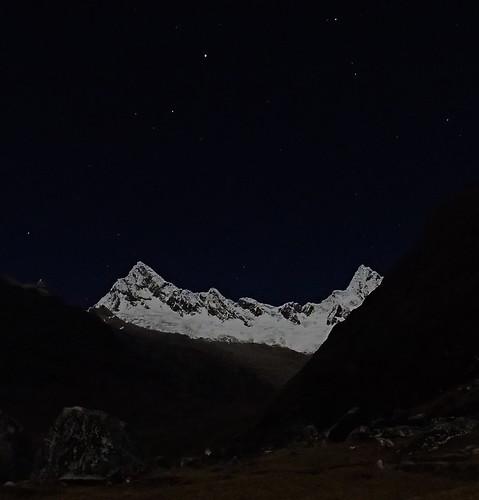 33 - Quitaraju and Alpamayo at night