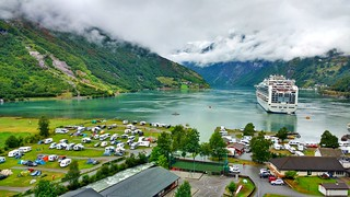 Geirangerfjord with Cruise Ship | by tacker