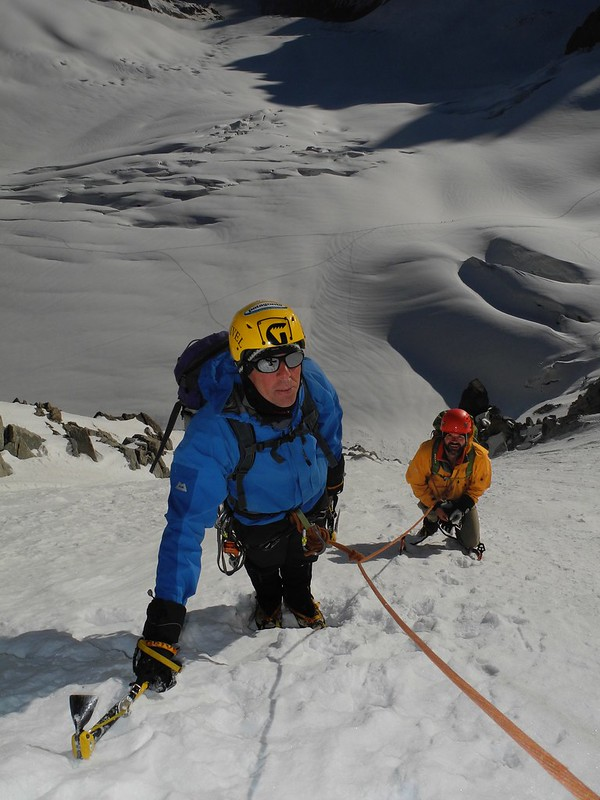 Tour Ronde north face. Climbers: Ray Allwood and Mark Cordingley