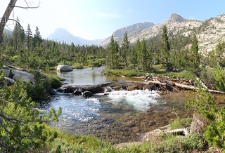 0511 Bubbs Creek above Vidette Meadow, with Center Peak in the haze to the left from the John Muir Trail | by _JFR_