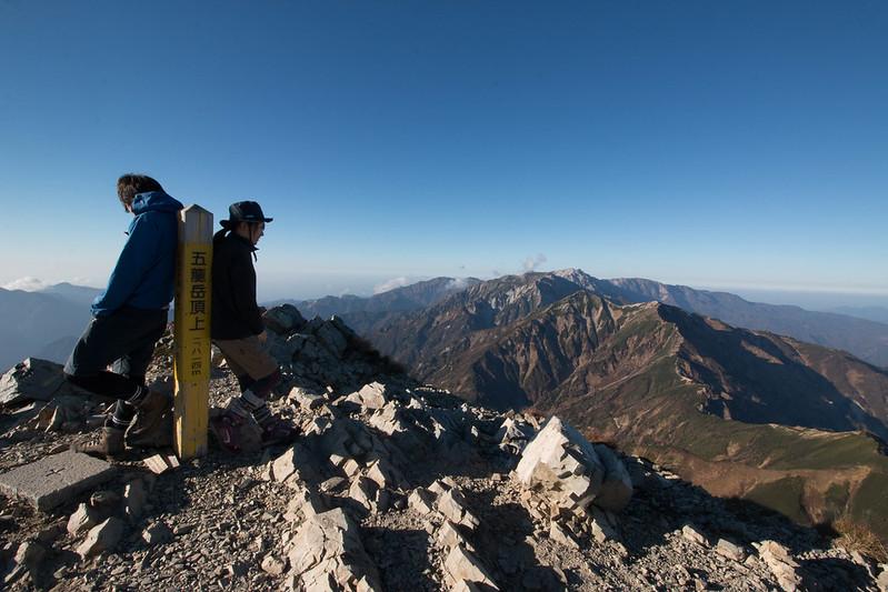 五竜岳 頂上