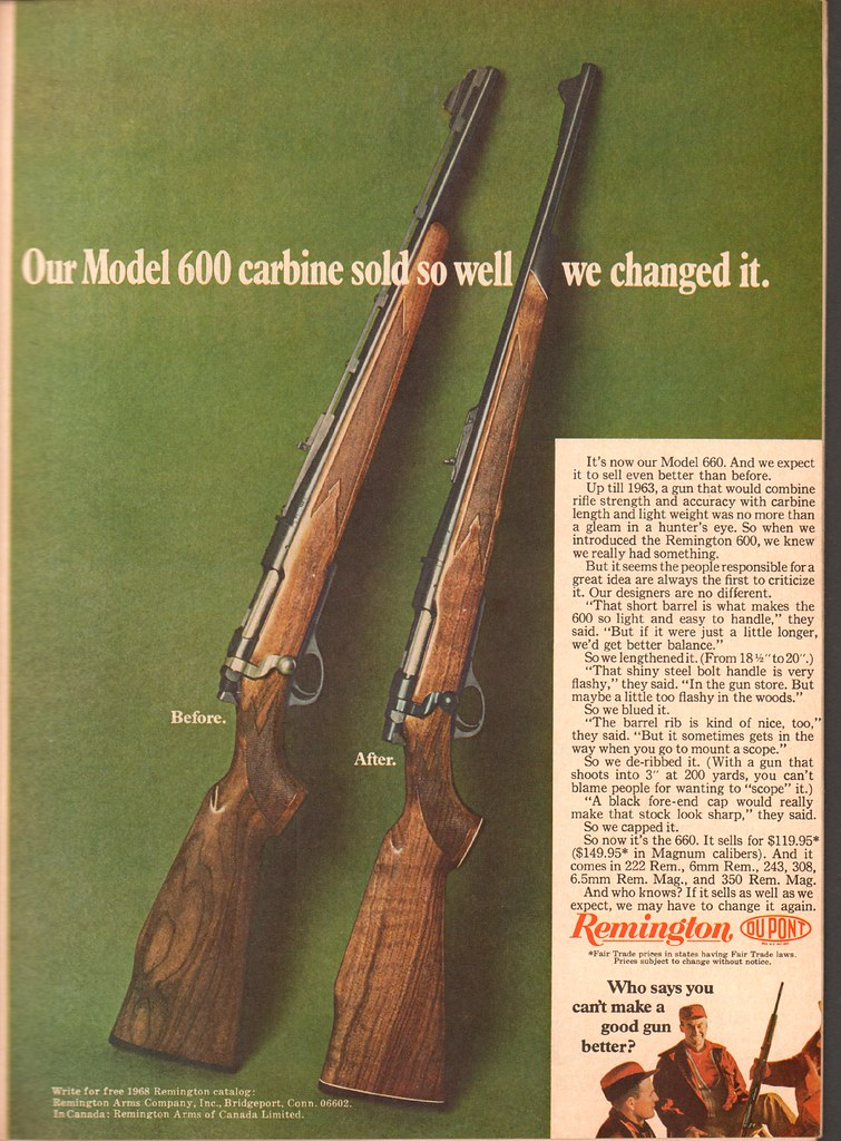 1968 Remington Model 600 - 660 Carbine Advertisement Sport… | Flickr