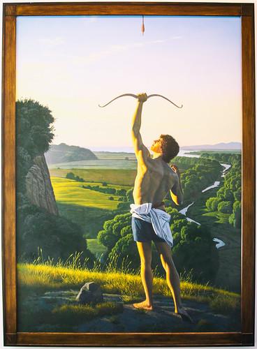 america california crockerartmuseum davidligare landscapewithanarcher museum sacramento usa unitedstates unitedstatesofamerica archer archery painting us fav10