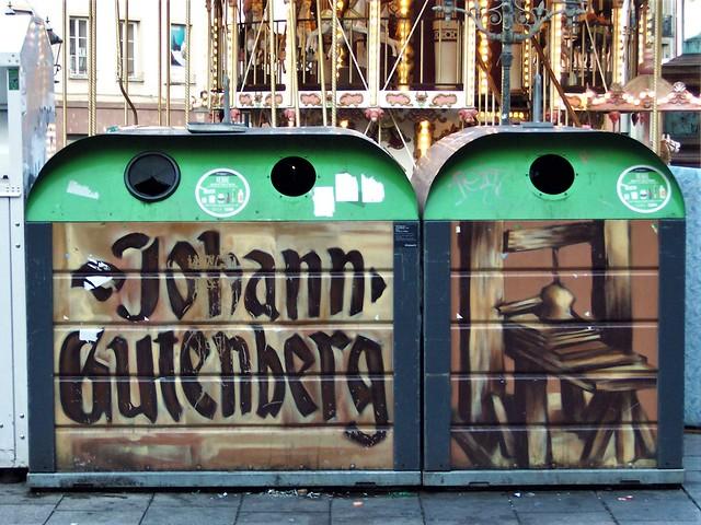 Gutenberg recycling bins, Strasbourg