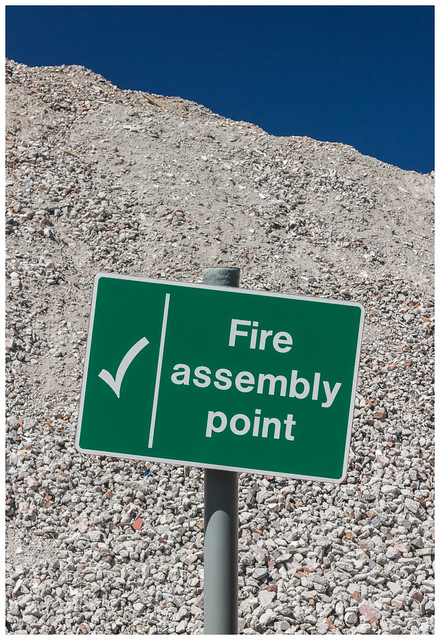 Fire Assembly - Western Infirmary Rubble, Glasgow