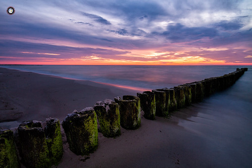 sea seascape sand sky sunset landscape longexposure poland polska baltic