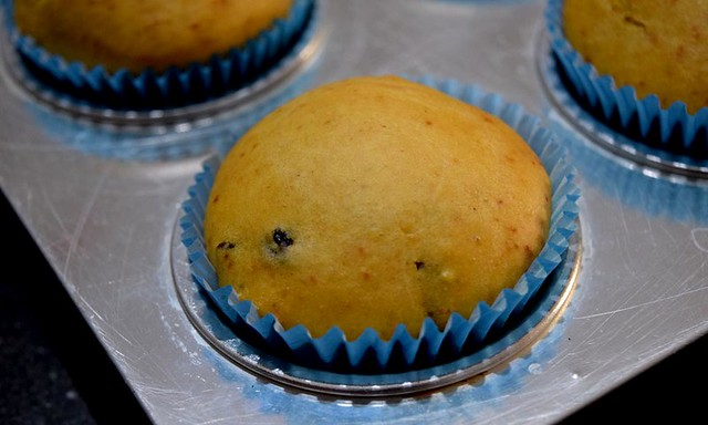 Orange Cranberry Muffins after baking
