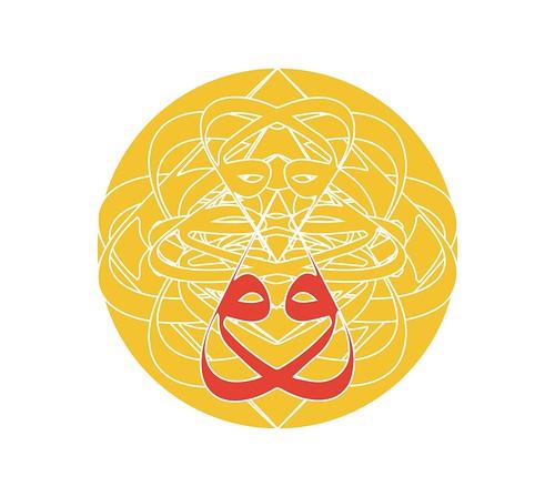 Double-vav Sri Yantra (ver_A saffron)_Sri Yantra A w-v-s | by them_cairo_doors