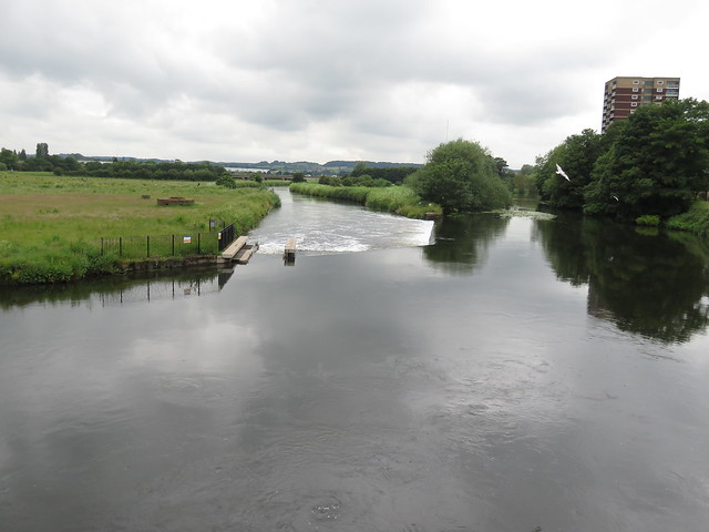 The Rivers Tame and Anker at Tamworth, UK